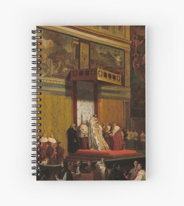 Pope Pius VII in the Sistine Chapel Oil Painting by Jean-Auguste-Dominique Ingres Spiral Notebooks