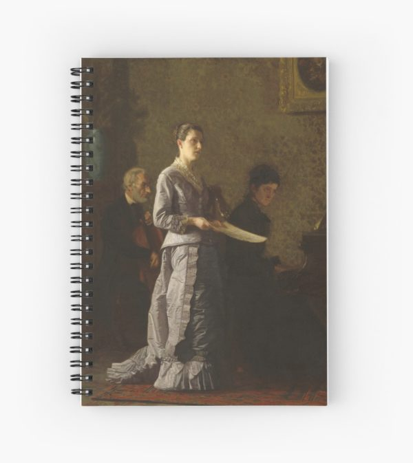 Singing a Pathetic Song Oil Painting by Thomas Eakins Spiral Notebooks