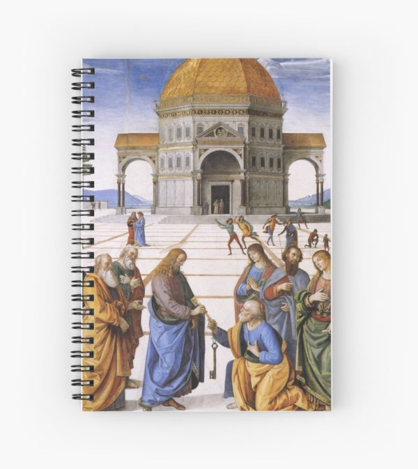 The Delivery of the Keys Painting by Perugino Sistine Chapel Spiral Notebooks