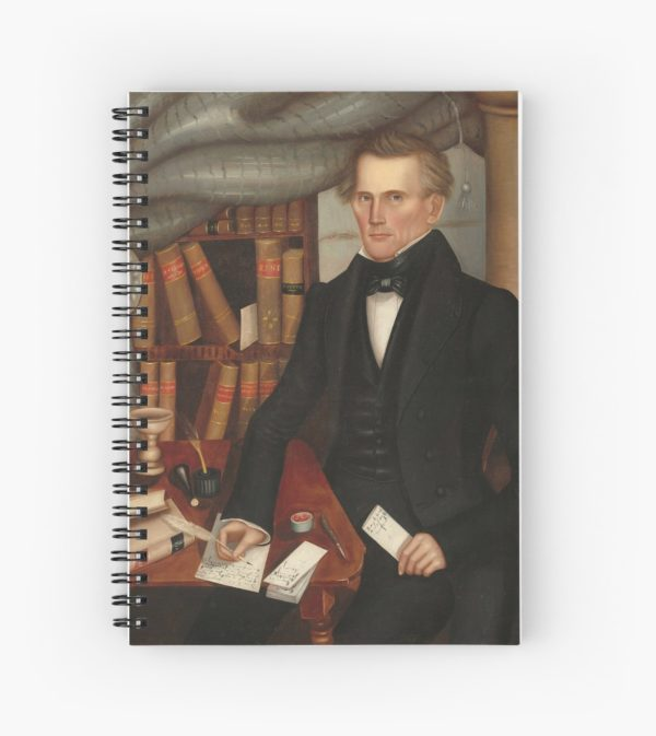 Vermont Lawyer Oil Painting by Horace Bundy Spiral Notebooks