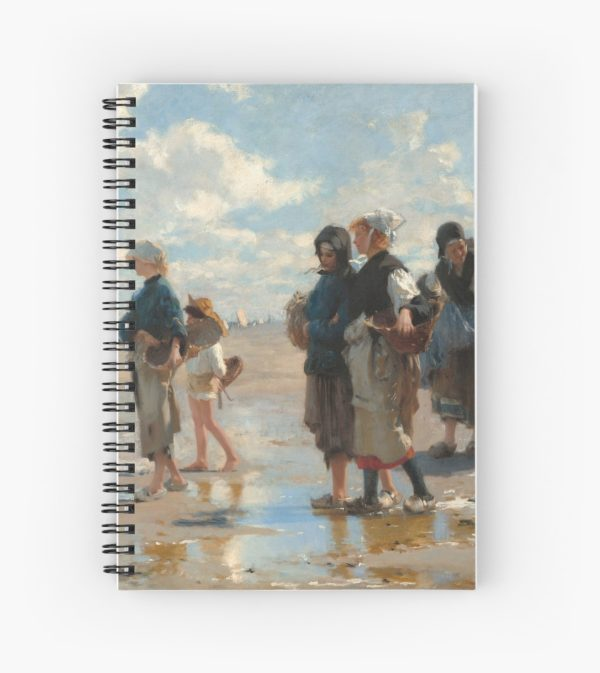 Setting Out to Fish Oil Painting by John Singer Sargent Spiral Notebooks