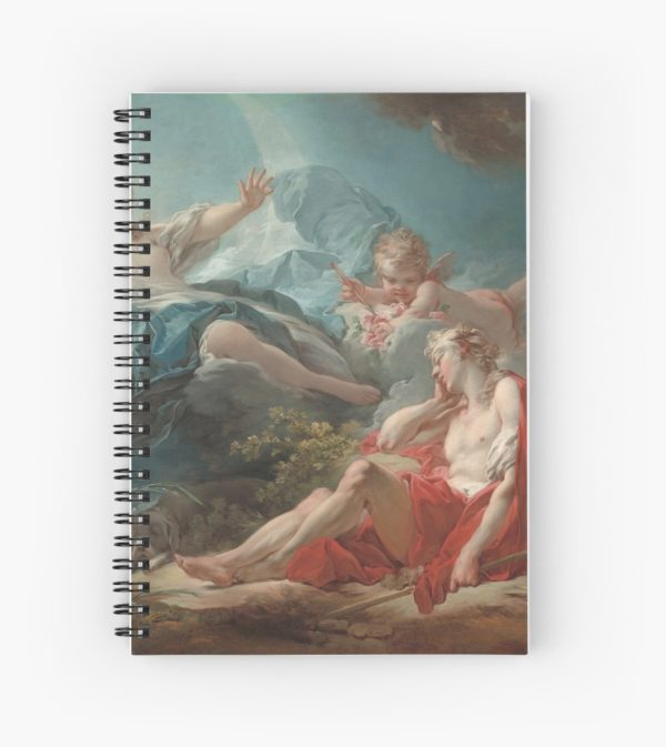 Diana and Endymion Oil Painting by Jean-Honoré Fragonard Spiral Notebooks