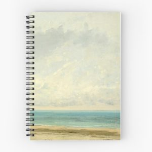Calm Sea Oil Painting by Gustave Courbet Spiral Notebooks