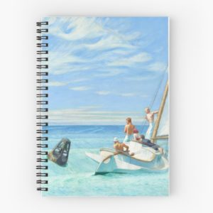 Ground Swell Oil Painting by Edward Hopper Spiral Notebooks