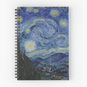 Starry Night Oil painting by Vincent van Gogh Spiral Notebooks