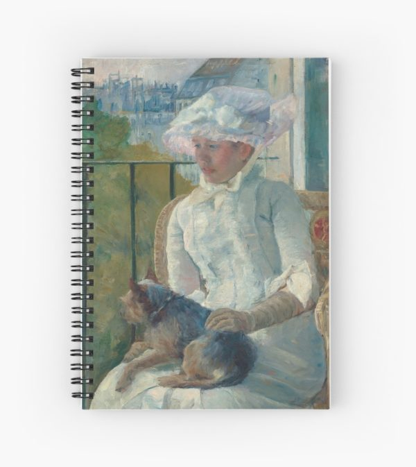 Young Girl at a Window Oil Painting by Mary Stevenson Cassatt Spiral Notebooks