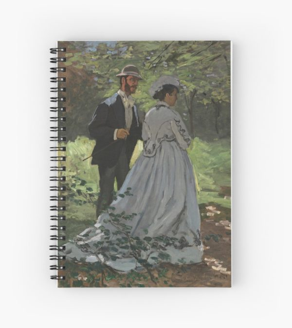 Bazille and Camille Painting by Claude Monet Spiral Notebooks