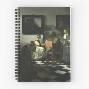 Stolen Art - The Concert by Johannes Vermeer Spiral Notebooks