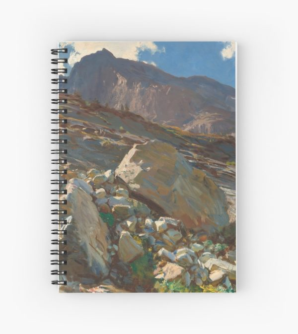Simplon Pass Oil Painting by  John Singer Sargent Spiral Notebooks