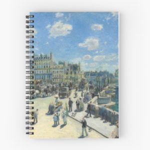 Pont Neuf Paris Painting by Auguste Renoir Spiral Notebooks