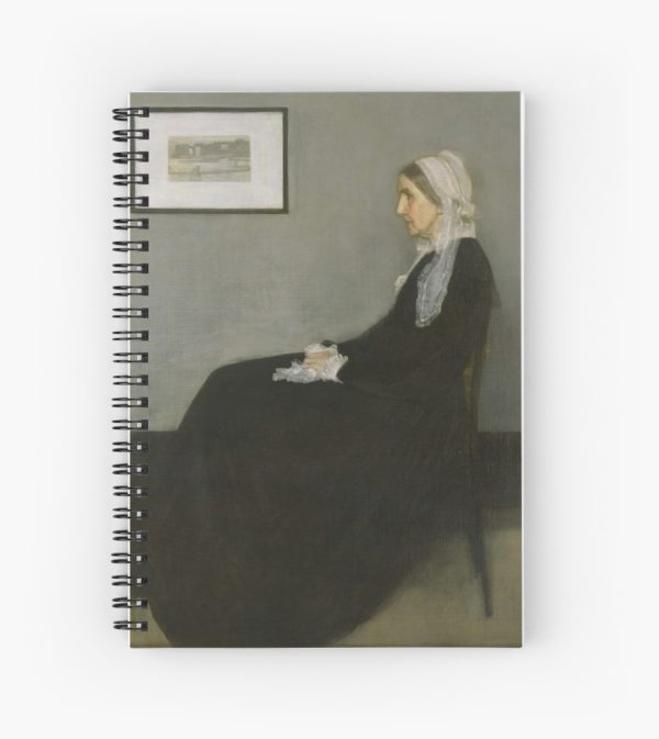Whistlers Mother Oil Painting by James McNeill Whistler Spiral Notebooks