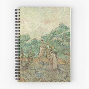 The Olive Orchard by Vincent van Gogh - Classic Art Spiral Notebooks