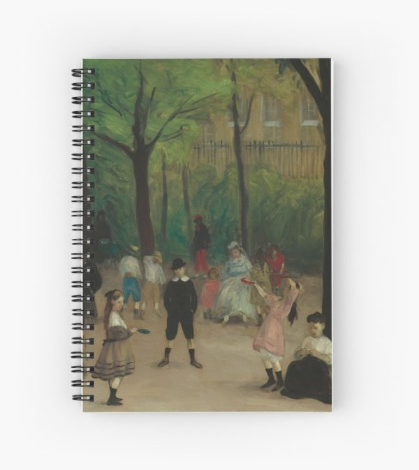 Luxembourg Gardens Oil Painting by William James Glackens Spiral Notebooks