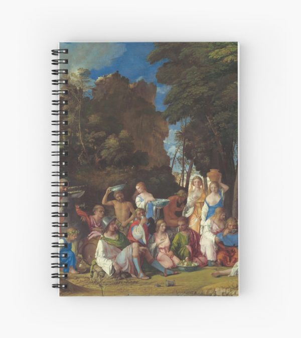 The Feast of the Gods Painting by Giovanni Bellini and Titian Spiral Notebooks