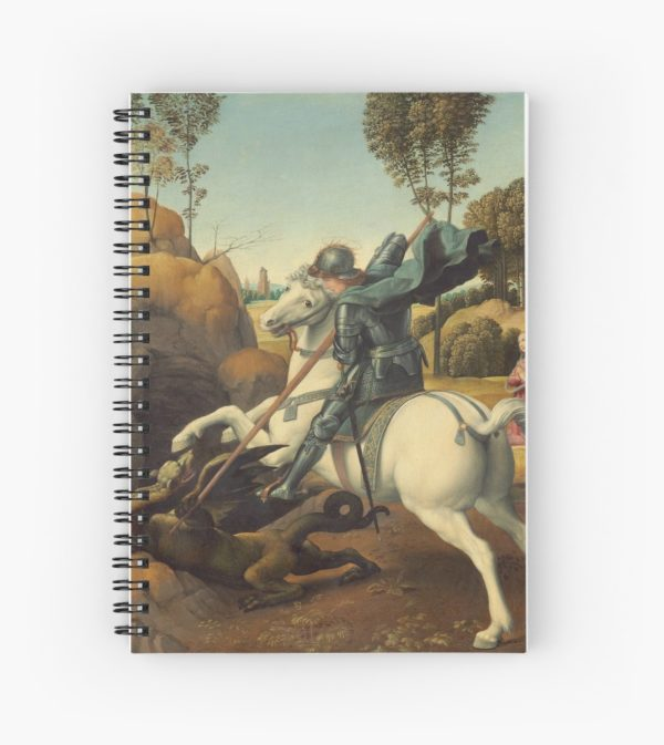 Saint George and the Dragon Oil Painting By Raphael Spiral Notebooks