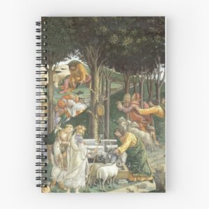 Trials of Moses Painting by Botticelli - Sistine Chapel Spiral Notebooks