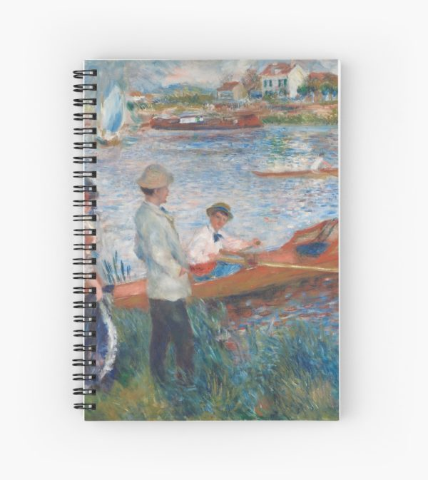 Oarsmen at Chatou Painting by Auguste Renoir Spiral Notebooks