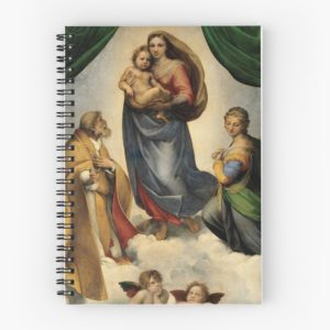 The Sistine Madonna Oil Painting by Raphael Spiral Notebooks