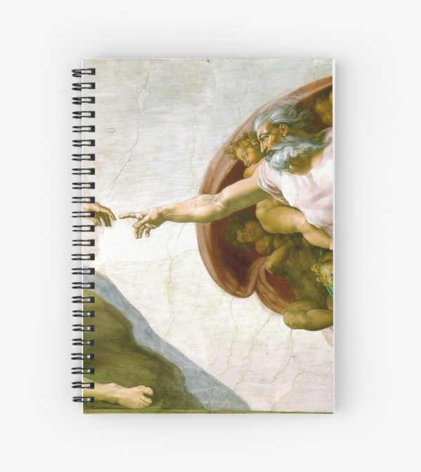 The Creation of Adam Painting by Michelangelo Sistine Chapel Spiral Notebooks