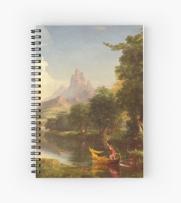 The Voyage of Life Youth Painting by Thomas Cole Spiral Notebooks