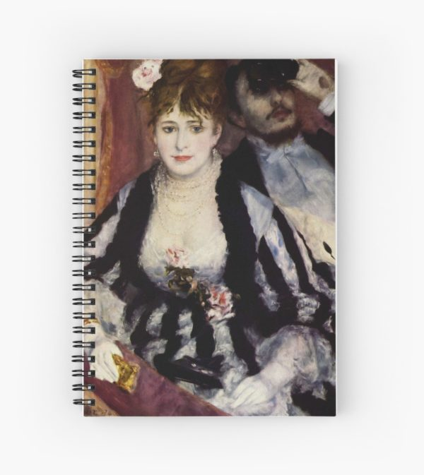 The Theatre Box -  La Loge Oil Painting by Auguste Renoir Spiral Notebooks