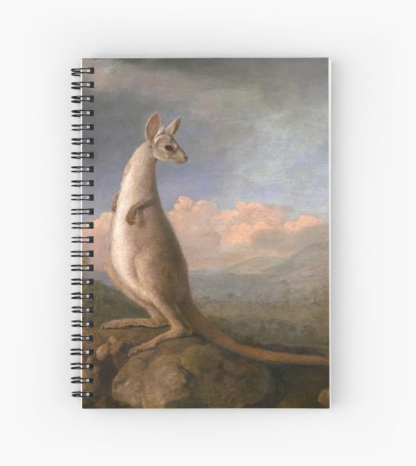 The Kongouro Oil Painting by Australian Artist George Stubbs Spiral Notebooks