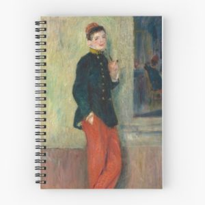 The Young Soldier oil Painting by Auguste Renoir Spiral Notebooks