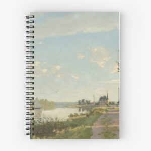 Argenteuil by Claude Monet Spiral Notebooks