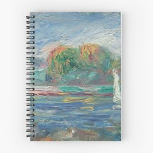 The Blue River Oil Painting by Auguste Renoir Spiral Notebooks