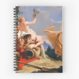 Oil Painting Apollo Pursuing Daphne by Giovanni Battista Tiepolo Spiral Notebooks