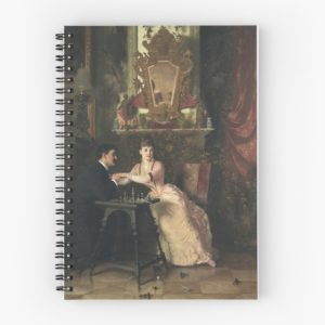 The Proposal Oil Painting by Knut Ekwall Spiral Notebooks