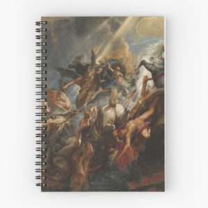 The Fall of Phaeton Oil Painting by Sir Peter Paul Rubens Spiral Notebooks