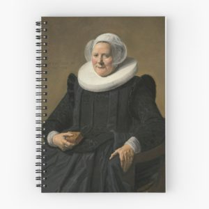 Portrait of an Elderly Oil Painting Lady by Frans Hals Spiral Notebooks