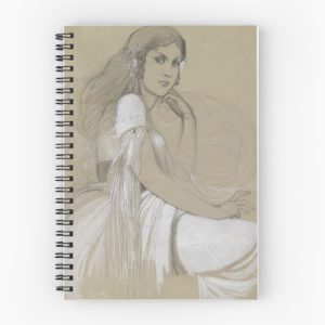The artists daughter by Jaroslava Drawing Spiral Notebooks