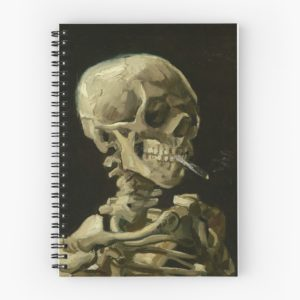 Skull of a Skeleton with Burning Cigarette by Vincent van Gogh Spiral Notebooks