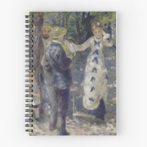 The Swing Oil Painting by Auguste Renoir Spiral Notebooks