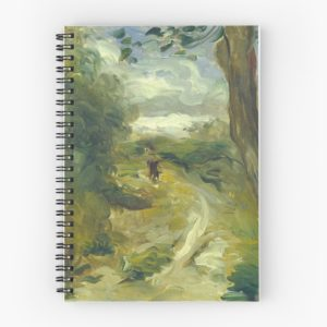 Landscape Between Storms Oil Painting by Auguste Renoir Spiral Notebooks