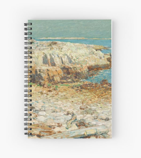 A North East Headland Oil Painting by Childe Hassam Spiral Notebooks