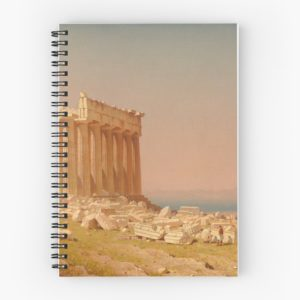 Ruins of the Parthenon Oil Painting by Sanford Robinson Gifford Spiral Notebooks