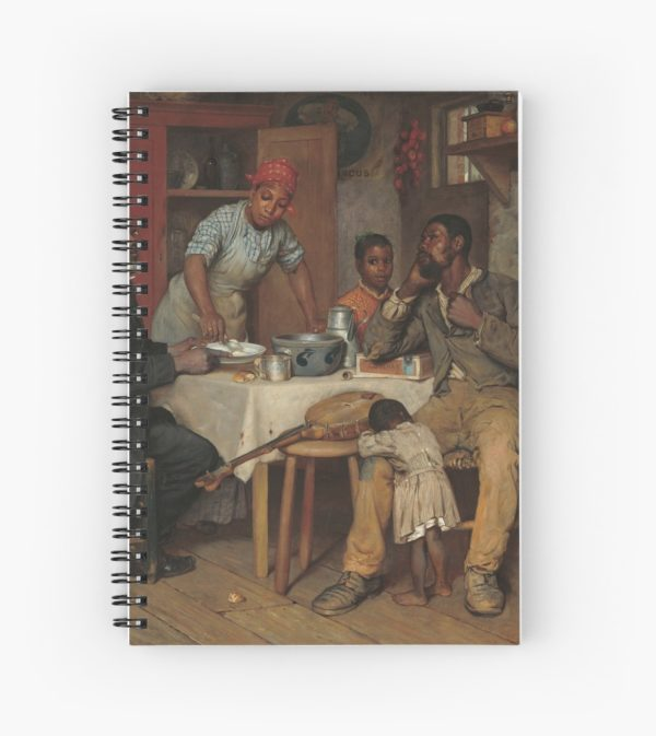 A Pastoral Visit Oil Painting by Richard Norris Brooke Spiral Notebooks