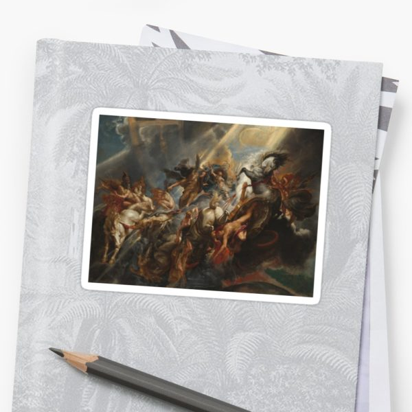 The Fall of Phaeton Oil Painting by Sir Peter Paul Rubens Stickers