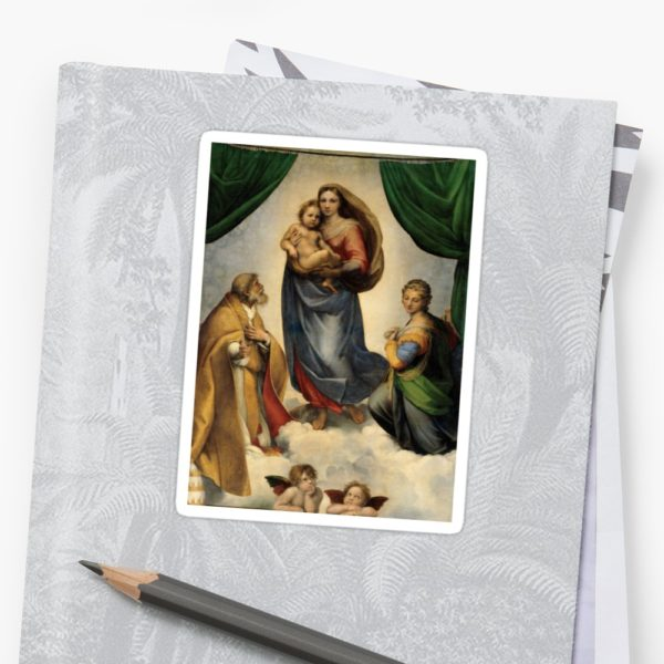 The Sistine Madonna Oil Painting by Raphael Stickers