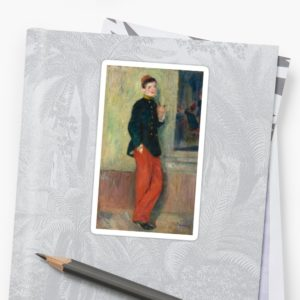 The Young Soldier oil Painting by Auguste Renoir Stickers