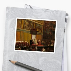 Pope Pius VII in the Sistine Chapel Oil Painting by Jean-Auguste-Dominique Ingres Stickers