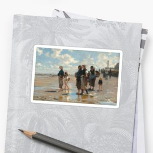 Setting Out to Fish Oil Painting by John Singer Sargent Stickers