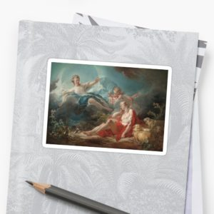 Diana and Endymion Oil Painting by Jean-Honoré Fragonard Stickers