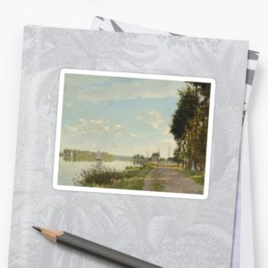 Argenteuil by Claude Monet Stickers