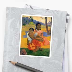 Affordable Art $300,000,000 When Will You Marry by Paul Gauguin Stickers