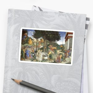 Trials of Moses Painting by Botticelli - Sistine Chapel Stickers