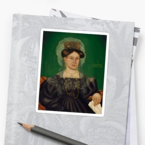 Eliza R. Read Oil Painting by Royall Brewster Smith Stickers